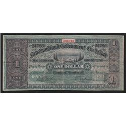 1911-12 Newfoundland One Dollar Cash Note