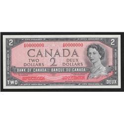 1954 Bank of Canada $2 Specimen