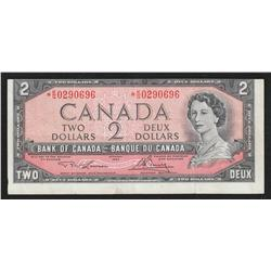 1954 Bank of Canada Off-Center Replacement Note