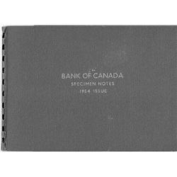1954 Bank of Canada Specimen Notes Folder