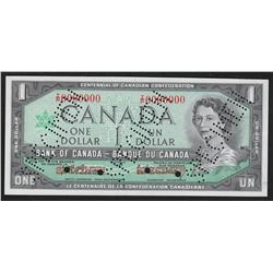 1967 Bank of Canada $1 Specimen