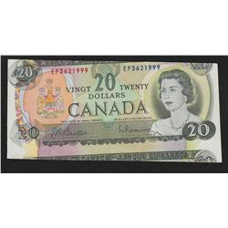 1969 Bank of Canada $20 Cons. Pair - Miscut Errors