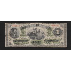 1870 Dominion of Canada $1