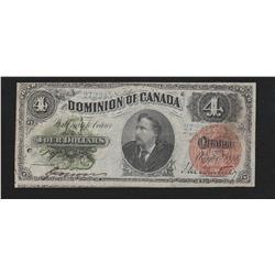 1882 Dominion of Canada $4