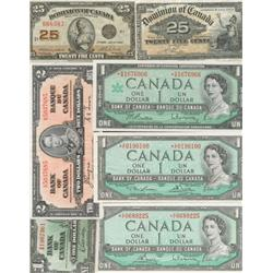 Wholesale Dominion & Bank of Canada Banknote Lot