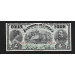 1902 Dominion of Canada $4