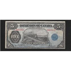 1912 Dominion of Canada $5