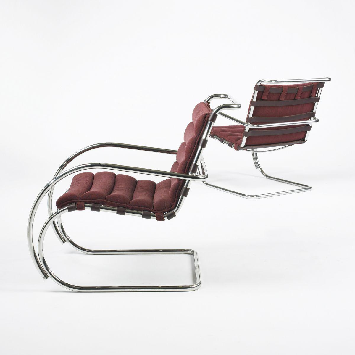 Enjoyable Ludwig Mies Van Der Rohe Mr Lounge Chairs Pair Squirreltailoven Fun Painted Chair Ideas Images Squirreltailovenorg