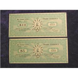 1938 Set $5 & $10 (Branch Davidian) Mt. Carmel
