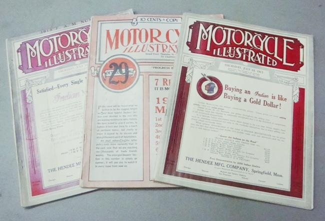 Three Early Editions of Motorcycle Illustrated 1913-14