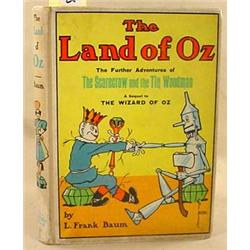 "VINTAGE ""THE LAND OF OZ"" HARDCOVER BOOK BY L FRANK"