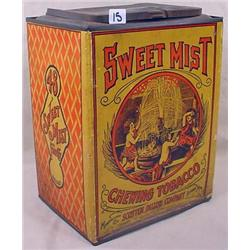 "ANTIQUE SWEET MIST CHEWING TOBACCO ""TIN"" / BOX - L"