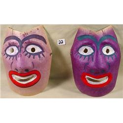 LOT OF 2 1940'S OCCUPIED JAPAN HALLOWEEN MASKS - H