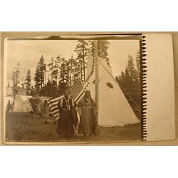 ANTIQUE RPPC REAL PHOTO POSTCARD OF NATIVE AMERICA