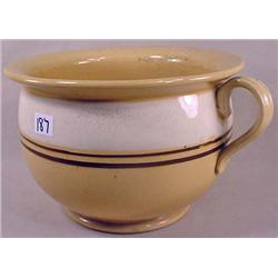 ANTIQUE YELLOW WARE CHAMBER POT - No Chips or Crac