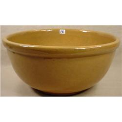 "ANTIQUE LARGE YELLOW WARE BOWL - Approx. 14"" Diam,"