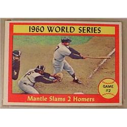 1961 TOPPS MICKEY MANTLE WORLD SERIES NO. 307 BASE