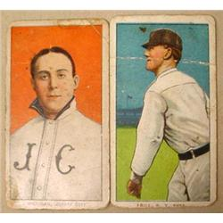 LOT OF 2 1909-1911 T206 BASEBALL TOBACCO CARDS - M