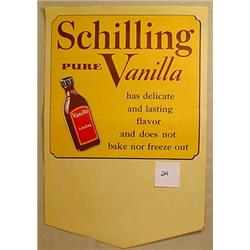 VINTAGE SCHILLING SPICE CO. PURE VANILLA GROCERY S