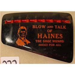 VINTAGE HAINES SHOES ADVERTISING CELLULOID MOUTH H