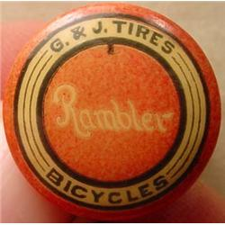 RARE 1894 RAMBLER BICYCLES AND G AND J TIRES ADVER