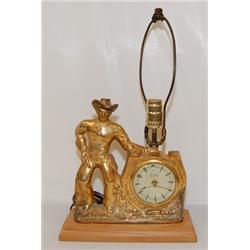 WESTERN CLOCK LAMP