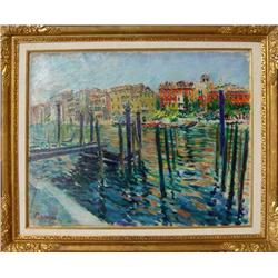 Dimitrie Berea, Red Palace Grand Canal, Venice, Painting