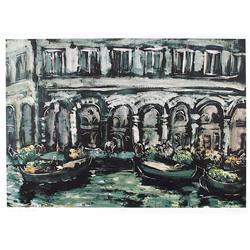 Bogdan Grom, Venice, Lithograph