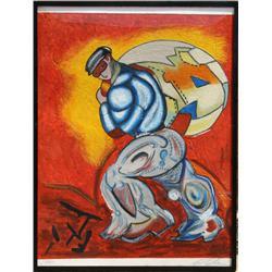 Sandro Chia, The Thief, Carborundum etching