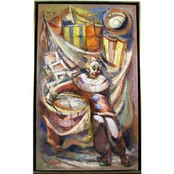P. Alfieri, The Clown, Painting