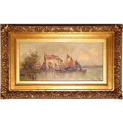 Santinetti, Italian Seascape, Venice, Painting