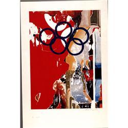 Mimmo Rotella, Barcelona Olympics, Serigraph