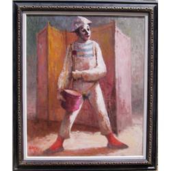 P. Alfieri, Clown, Painting