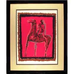 Marino Marini, Le Chevalier, Framed Print
