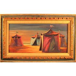 P. Alfieri, Tents, Painting