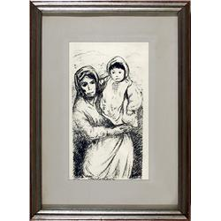 Carlo Levi, Mother and Child, Lithograph