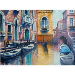 Bassari, Venice Canal, Painting