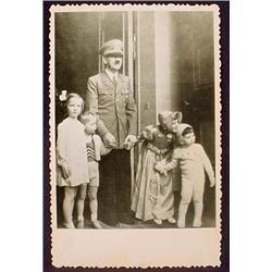 WW2 NAZI GERMAN ADOLF HITLER PHOTO - HITLER WITH C