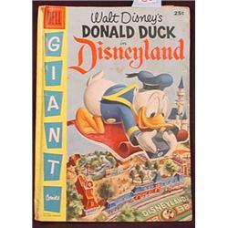 """1955 DELL DISNEY COMIC BOOK """"DONALD DUCK IN DISNEY"""