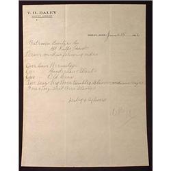 1906 ORDER FOR WHISKEY ON DEPUTY SHERIFF LETTERHEA