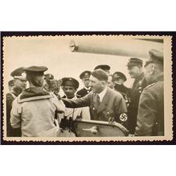 WW2 NAZI GERMAN ADOLF HITLER PHOTO - HITLER WITH S
