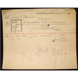 1891 NORTHWESTERN BOTTLING CO. SODA BOTTLER BILLHE