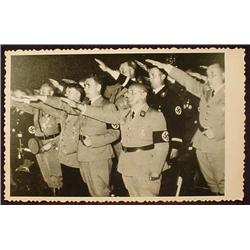 WW2 NAZI GERMAN ADOLF HITLER PHOTO - HITLER W/ OFF