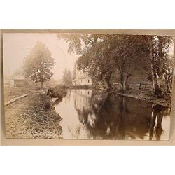 1916 RPPC REAL PHOTO POSTCARD SCIO, OR MILL RACE A