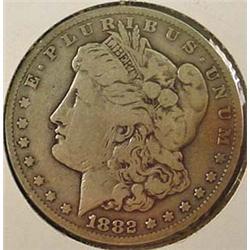 1882-CC CARSON CITY MORGAN SILVER DOLLAR