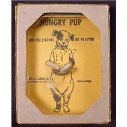 """1930'S """"HUNGRY PUP"""" DEXTERITY GAME OF SKILL - Larg"""