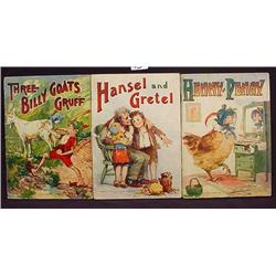 LOT OF 3 1921 CHILDREN'S BOOKS - Incl. Henny Penny