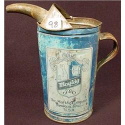 C. 1920'S MAYTAG OIL CAN NEWTON IA FUEL ADVERTISIN