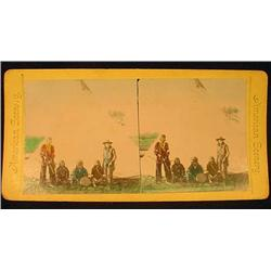 ANTIQUE NATIVE AMERICAN INDIAN STEREOVIEW CARD - H