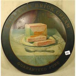 1908 BALLARDS BRICK CREAM ADVERTISING SIGN